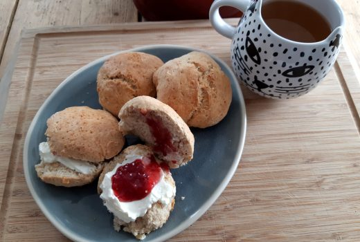 scones clotted cream marmalade