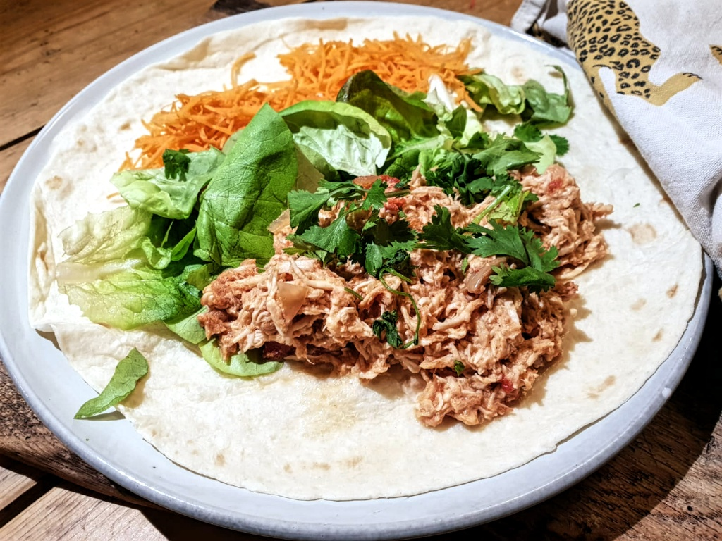 Healthy pulled chicken