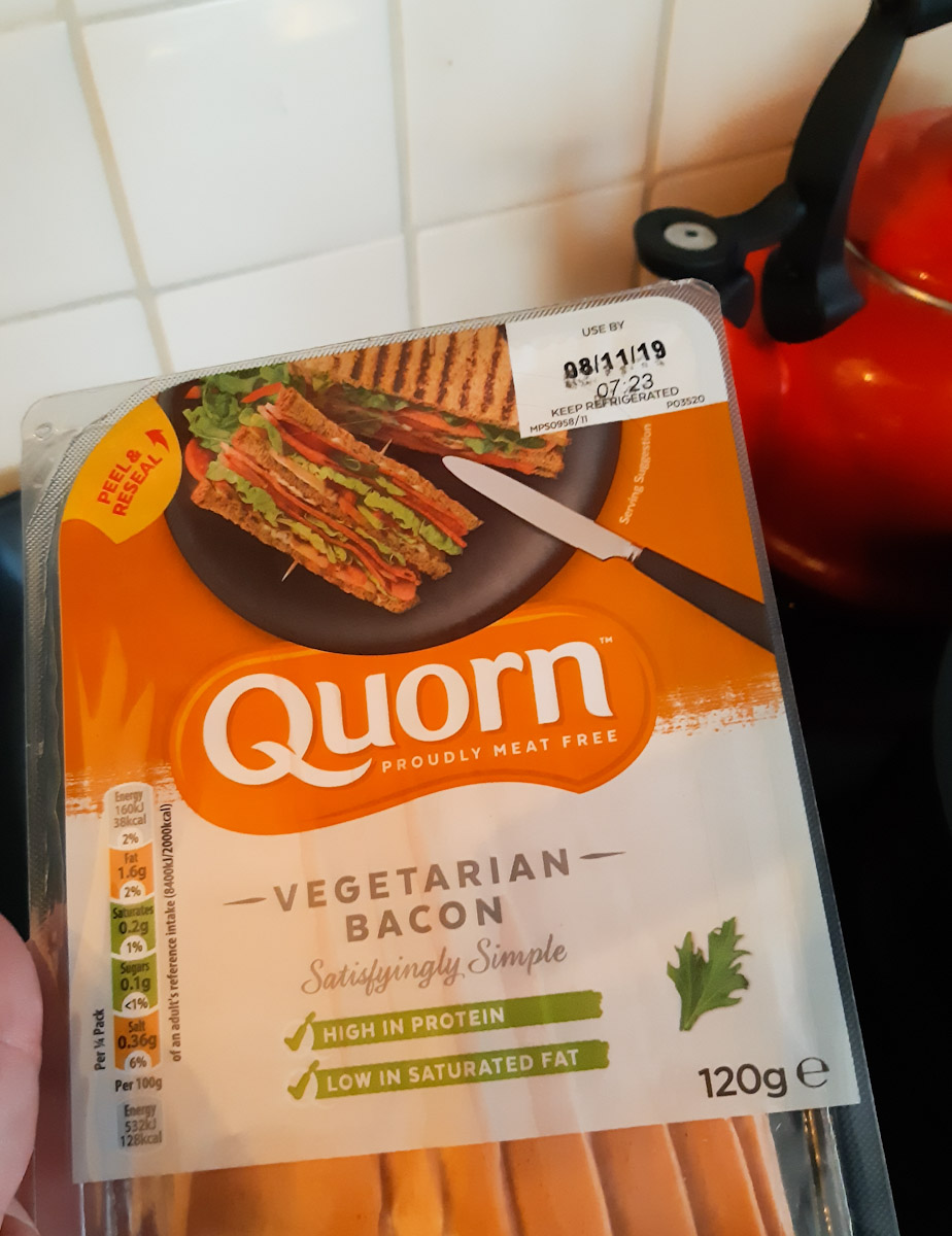 vegetrische bacon quorn